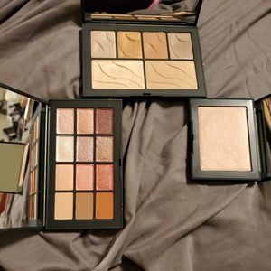 Nars eyeshadow palettes and Maldives high lighter
